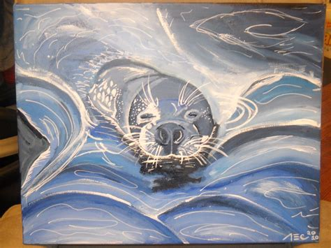 how to seal acrylic paint on canvas leopard seal acrylics 16x20 canvas by theadrock on