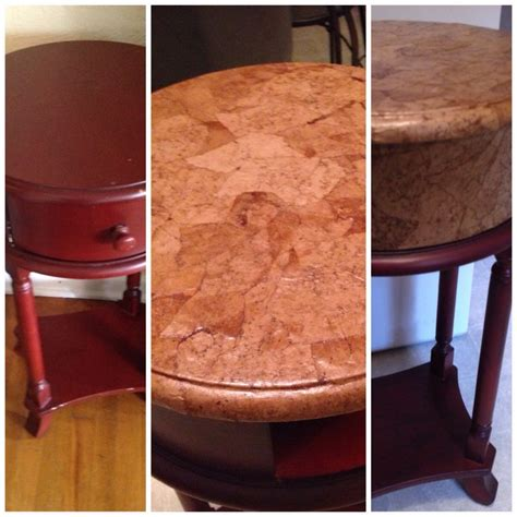decoupage on leather so easy faux leather redo on table with brown paper bag
