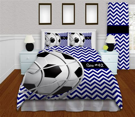 soccer bed sets black white and blue soccer bedding for and