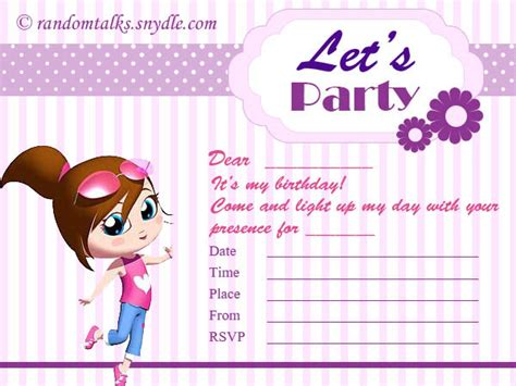 make a birthday invitation card free printable birthday invitation cards for festival
