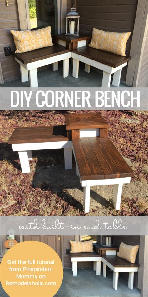 diy corner table remodelaholic build a corner bench with built in table