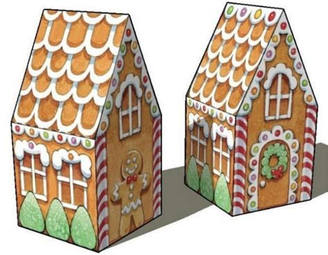 gingerbread house paper craft new paper craft simple gingerbread house