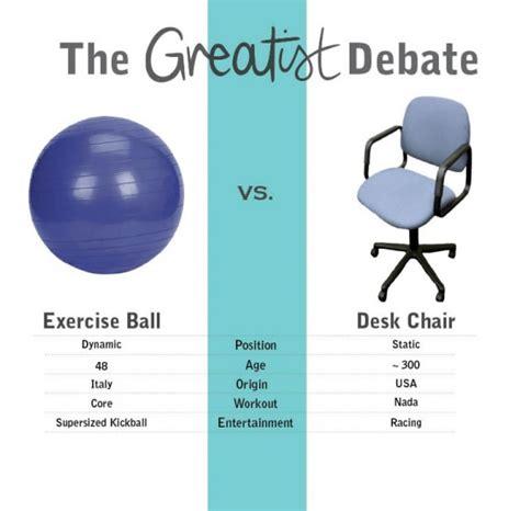 benefits of chair at work swiss vs office chair the greatist debate greatist