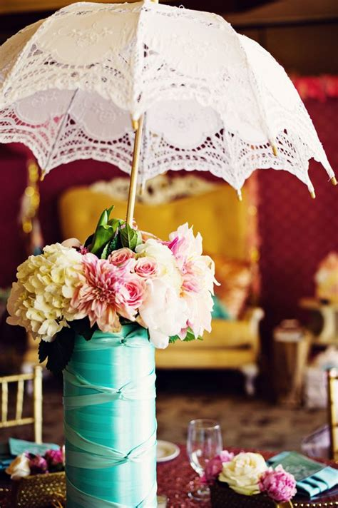 baby shower umbrella centerpieces umbrella centerpiece photo by weddings by and
