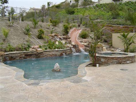 backyard pool slides temecula pool slides backyard premier pools spas