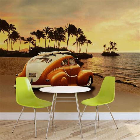 Car Wallpaper Murals by Vintage Car Wall Paper Mural Buy At Ukposters