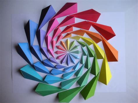 three dimensional origami simply creative colorful origami mosaic by kota hiratsuka