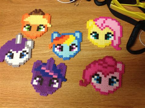 my pony perler my pony perler bead necklace twilight