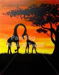 paint with a twist elephant twists giraffe painting and paintings on