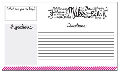 make your own recipe cards make your own photo cards free and print xcombear