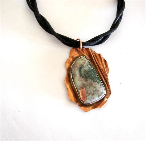 You To See Copper Cabochon Necklace On Craftsy