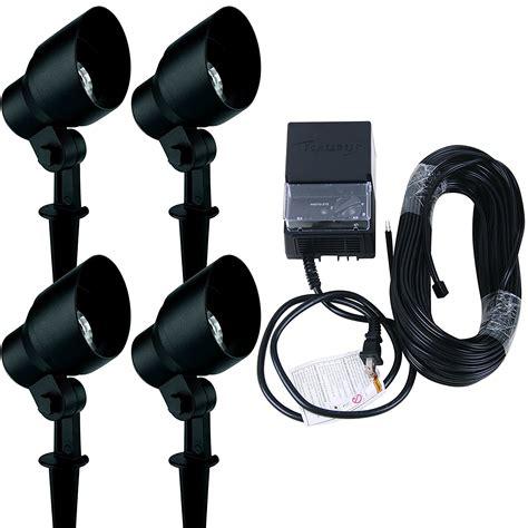 malibu low voltage landscape lighting landscape lighting kit malibu 4 pack 20 watt floodlight