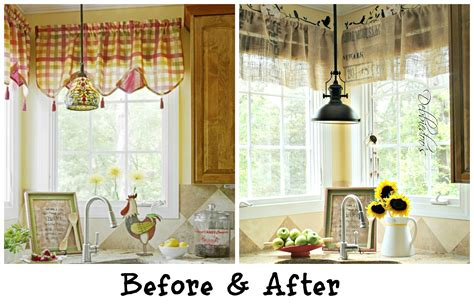 kitchen curtains valances diy no sew burlap kitchen valances made from coffee bags