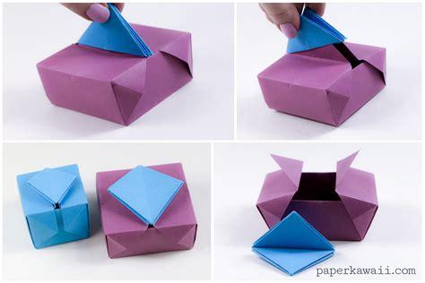 origami of box origami gatefold box paper kawaii