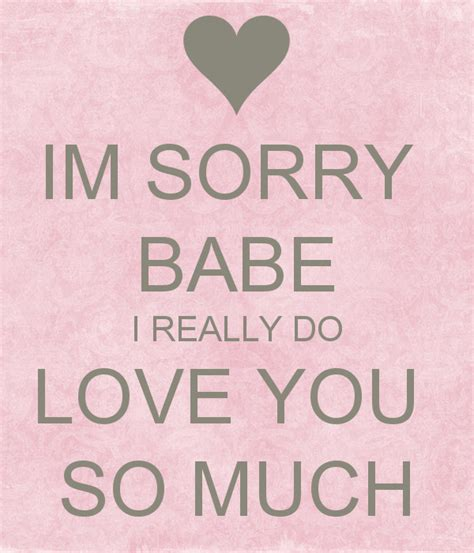 im sorry babe i love you quotes