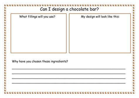 designing a bar ks1 design topic can i design a chocolate bar by