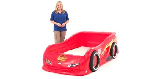 tikes cars 2 lightning mcqueen sports car bed cars bedlittle tikes lightning mcqueen sports car