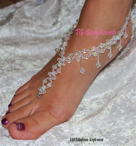 how to make foot jewelry with barefoot sandals foot jewelry wedding anklets clear