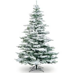 snow frosted tree 7ft snowy flocked noble pine tree artificial
