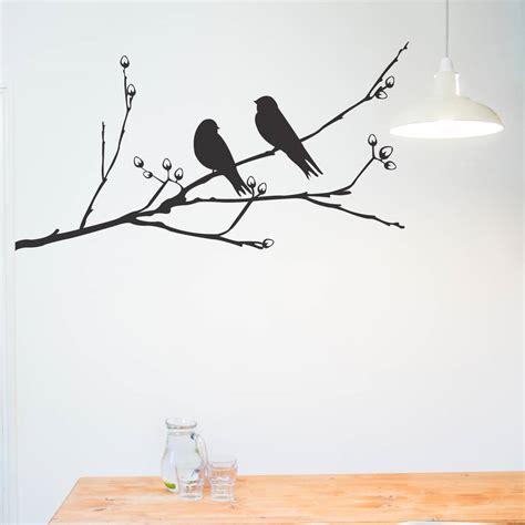 birds wall stickers birds on a branch wall sticker by nutmeg