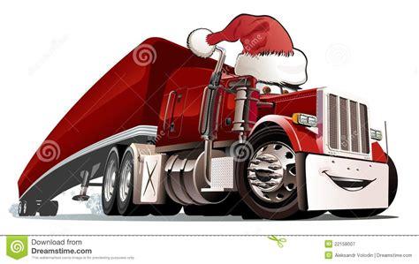 lkw weihnachtsbaum karikatur weihnachts lkw lizenzfreie stockfotografie