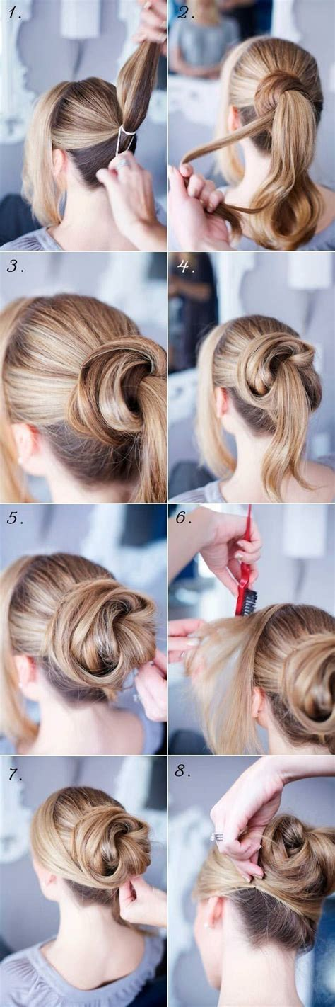 tutorial thin hair hairstyles 14 easy step by step updo hairstyles tutorials pretty