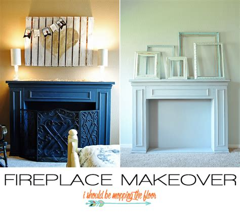 easy fireplace makeover i should be mopping the floor chalk paint fireplace makeover