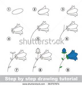 flowers step by step step by step drawing tutorial vector kid how to