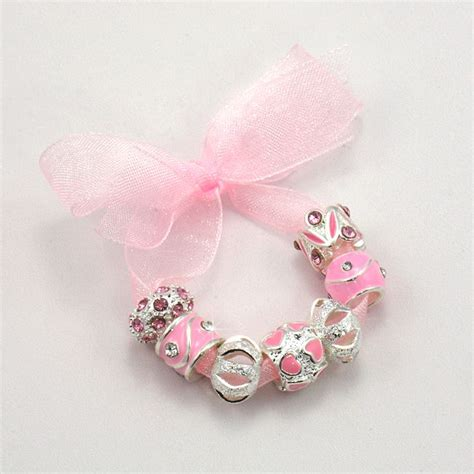 charming bead shop charm bead set for snake chains in pink jewels 4