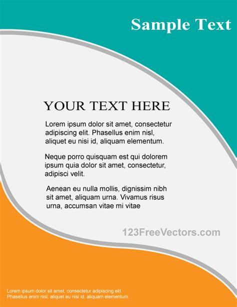 flyer template vector flyer design template free vector