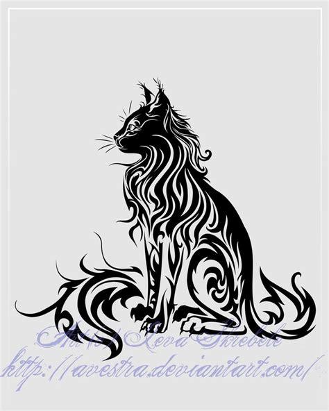 cat designs sitting cat tribal ii by avestra on deviantart
