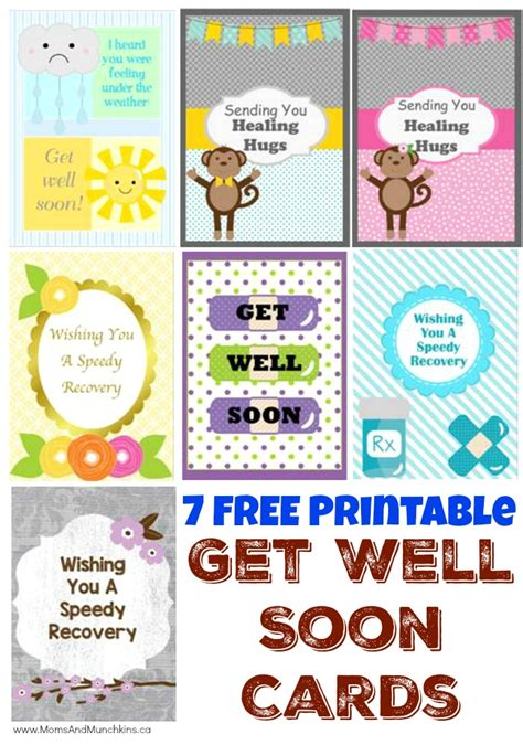 make a get well card for free free printable get well soon cards munchkins