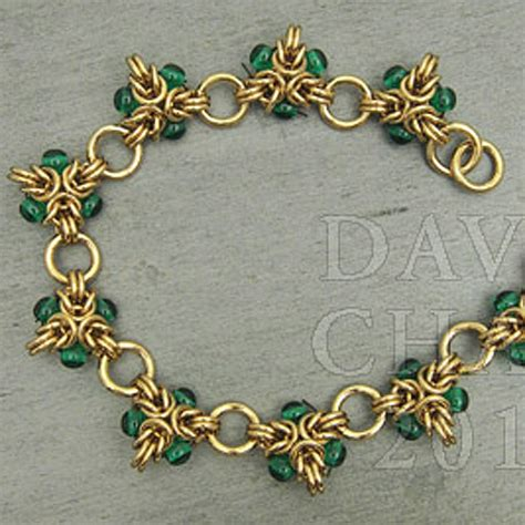 how to make chainmaille jewelry bead bracelet tutorial 171 bracelets jewelry