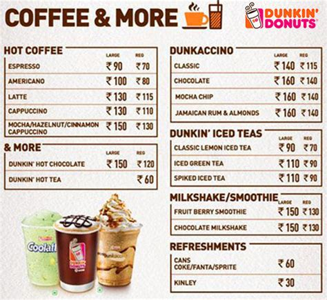 menu dunkin donuts buy 1 item from menu and another 1 offer at dunkin donuts