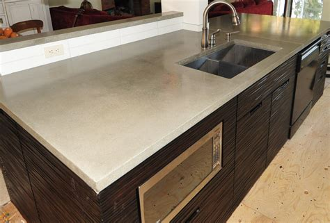 modern kitchen countertops mode concrete ultra chic and modern concrete kitchen