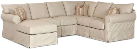 slipcover sectional sofa with chaise slip cover sectional sofa with left chaise by klaussner