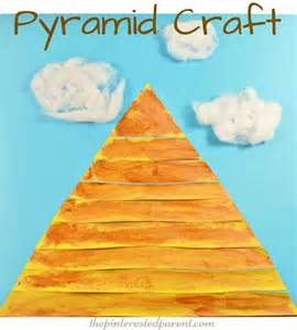 pyramid craft project 25 best ideas about crafts on