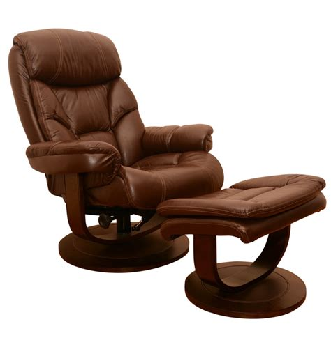 recliner with ottoman leather leather recliner lounge chair with ottoman ebth