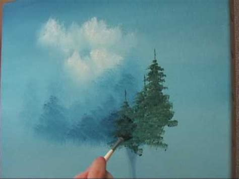 bob ross painting an evergreen tree learn how to create a evergreen tree the easy way