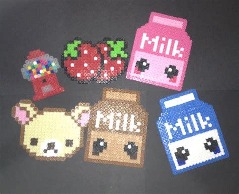 perler bead pictures perler rilakuma gum machine milk