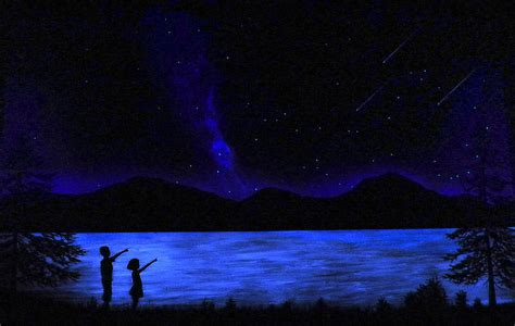glow in the paint mural mountain lake glow in the mural painting by frank wilson