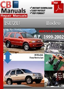 car repair manuals online free 2002 isuzu rodeo sport spare parts catalogs isuzu rodeo 1999 2002 service repair manual ebooks automotive