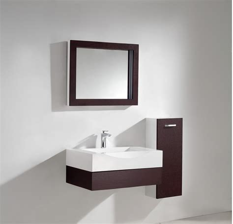 modern bathroom vanity set aura modern bathroom vanity set with side cabinet and led