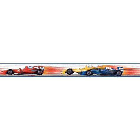Race Car Wallpaper Border by York Wallcoverings Cool Wallpaper Border