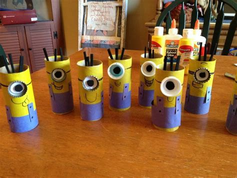 minion toilet paper roll craft minion pencil holders things to do with your