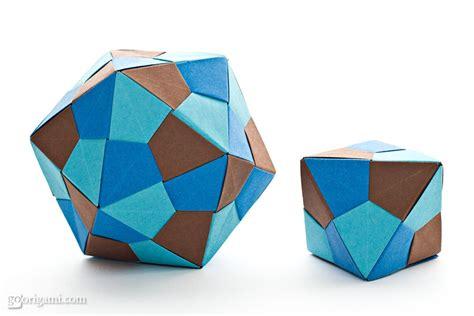 Origami Icosahedron And Octahedron By Tomoko Fuse Go Origami