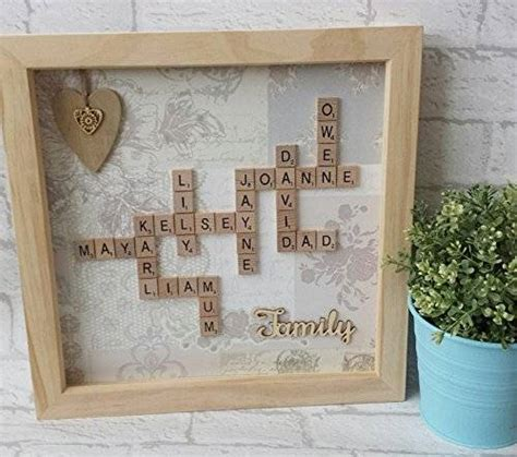 is wo a word in scrabble personalised 12x12 quot framed scrabble co uk