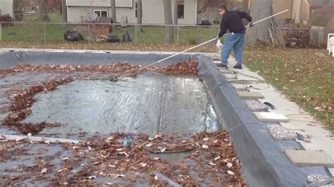 inground pool leaf cover how to get leaves your pool cover
