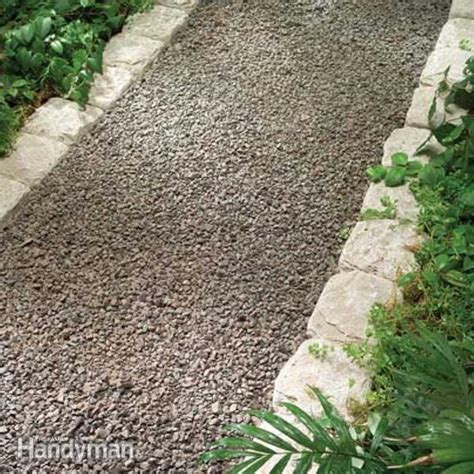 types of pathways in landscaping planning a backyard path gravel paths the family handyman