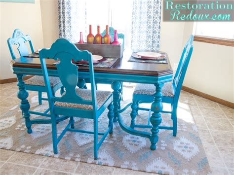 turquoise dining set turquoise dining table restoration redoux